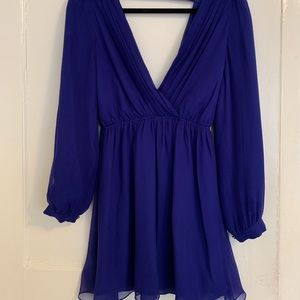 Sweet royal blue cocktail dress